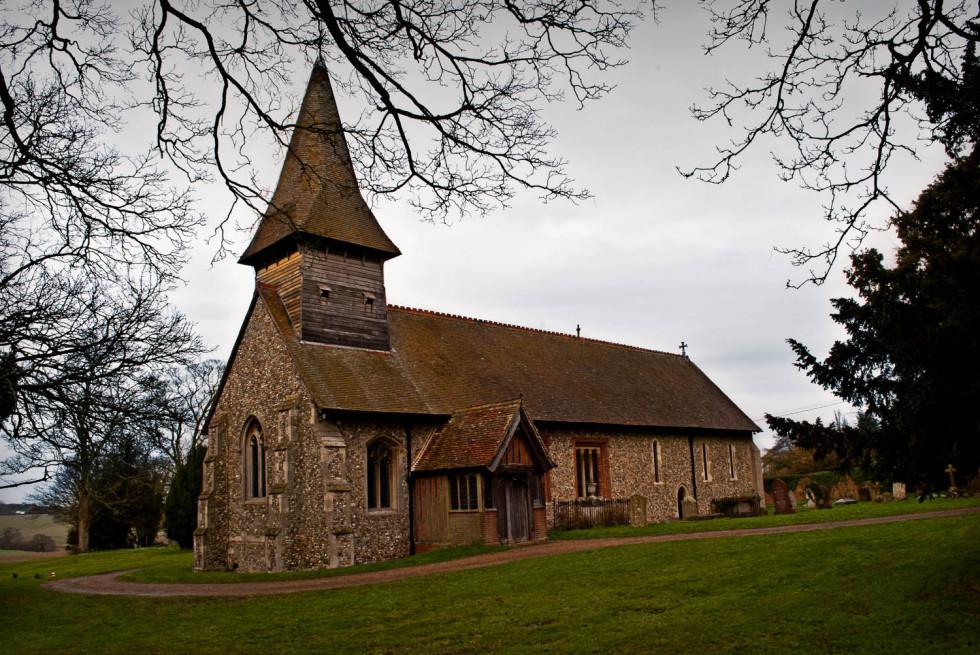 Broxted Church Winter