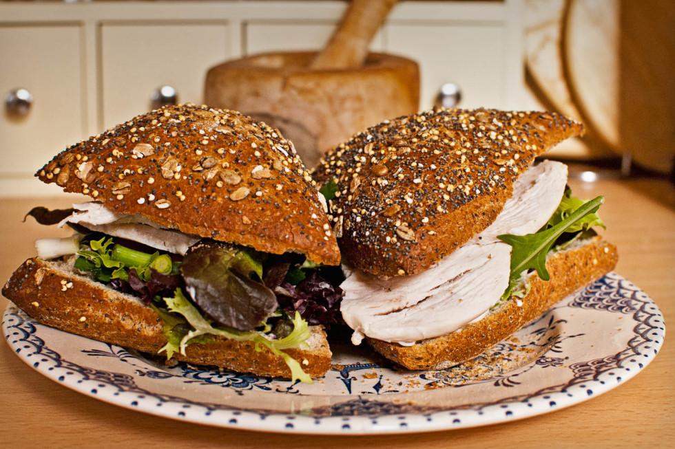 Chicken salad sandwich twice please