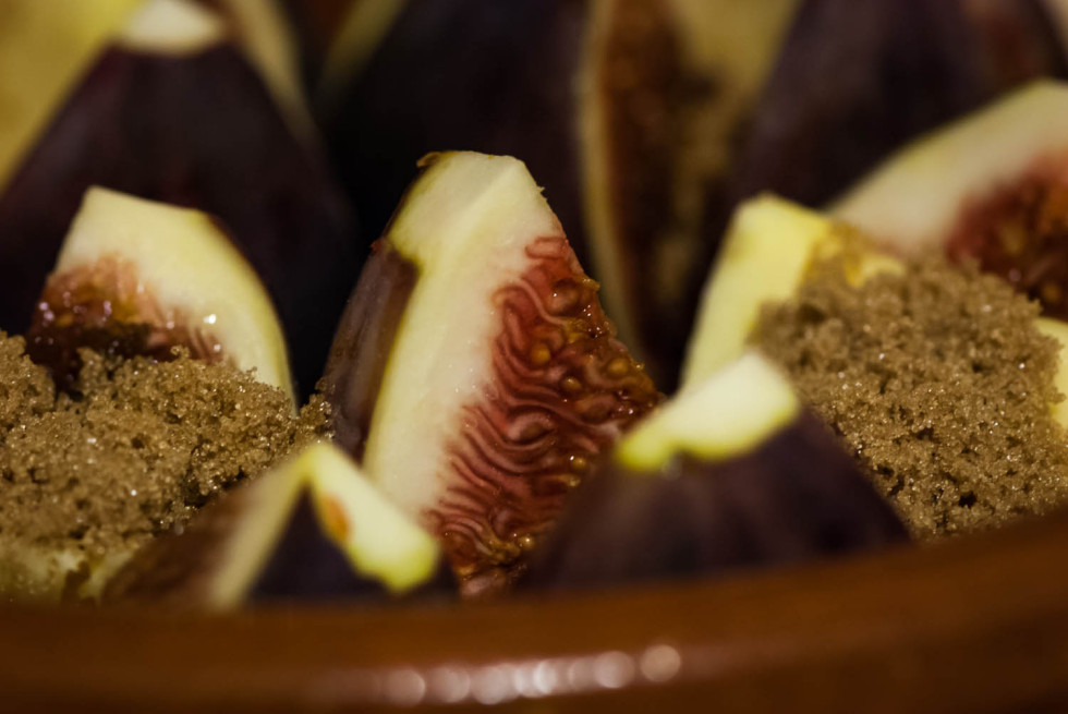 Figs going into the oven
