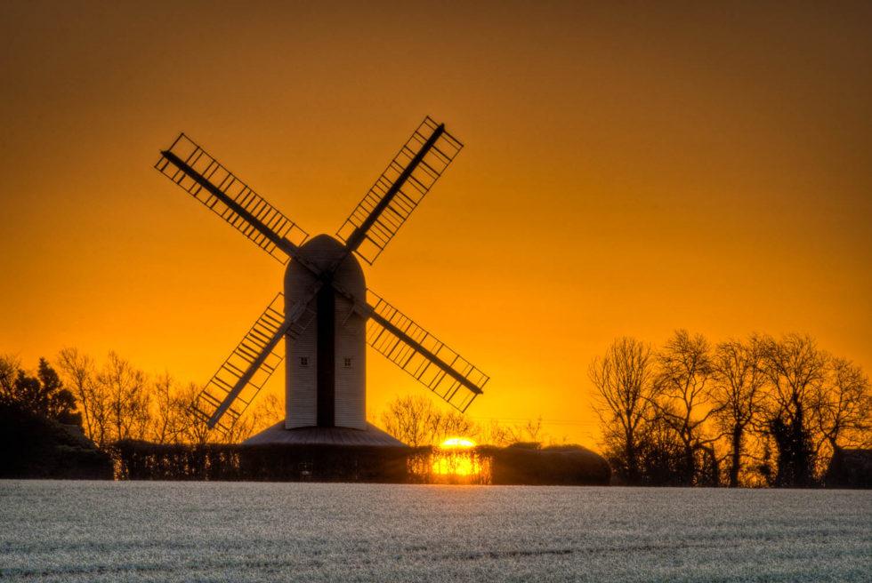 Aythorpe Roding Windmill Sun-up