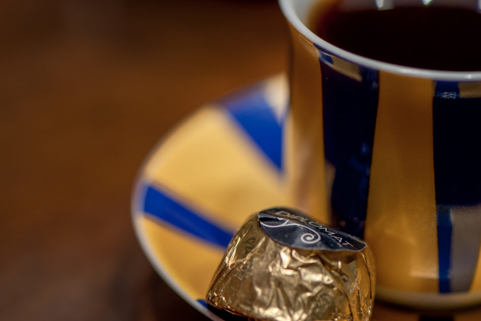Coffee and Thorntons