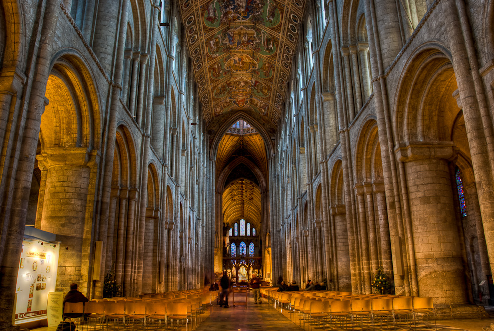 Looking down the nave at Ely Cathedral