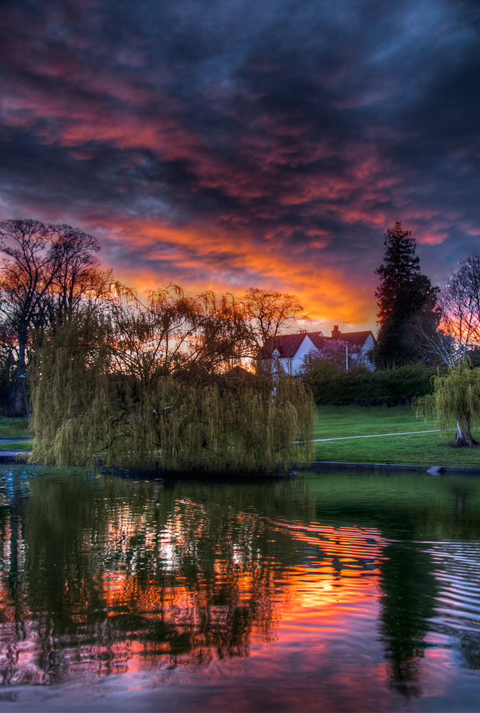 Sunset over Doctors Pond, Dunmow