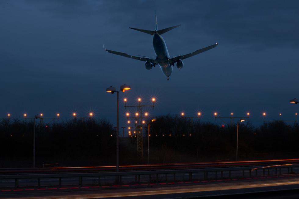 Landing at Stansted
