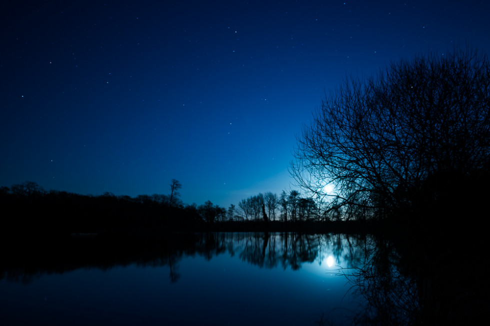 13/52 Moonrise on Hatfield Forest Lake