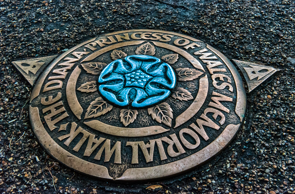 Diana Princess of Wales Memorial Walk Plaque