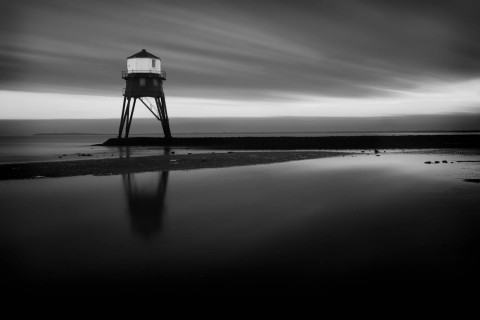 A long exposure shot of one of the Lighthouses at Dovercourt on the Essex coastline