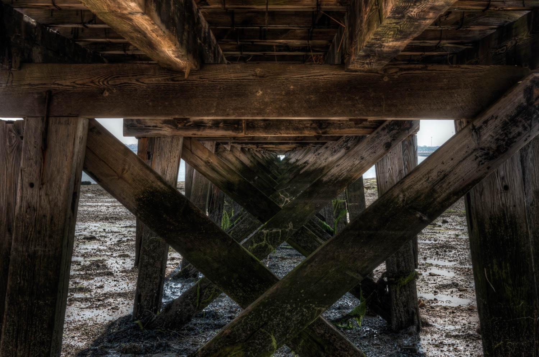 Under Shotley Gate Pier