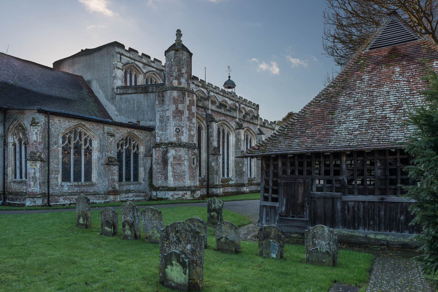 East Bergholt Church and Bell Cage