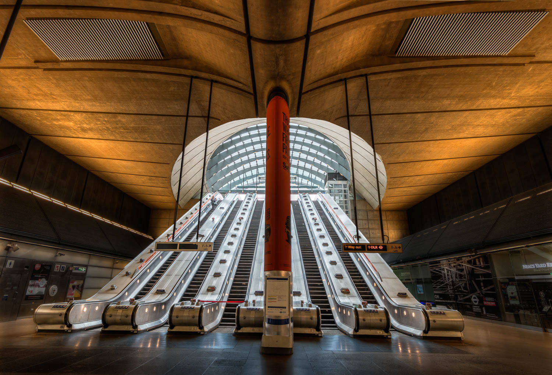 Canary Wharf Underground Tube Station