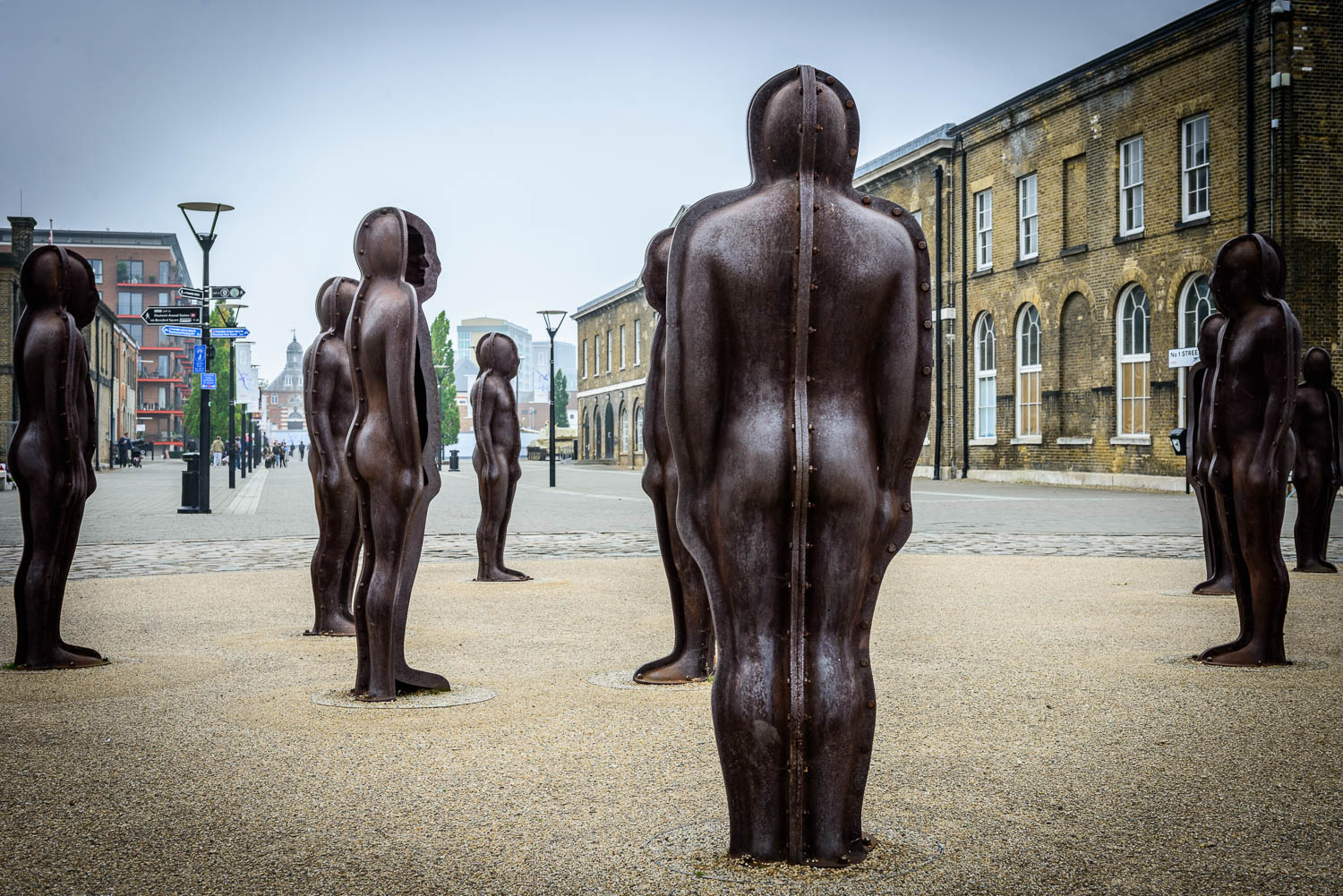 Standing Waiting Colour - Assembly by Peter Burke, Woolwich Arsenal