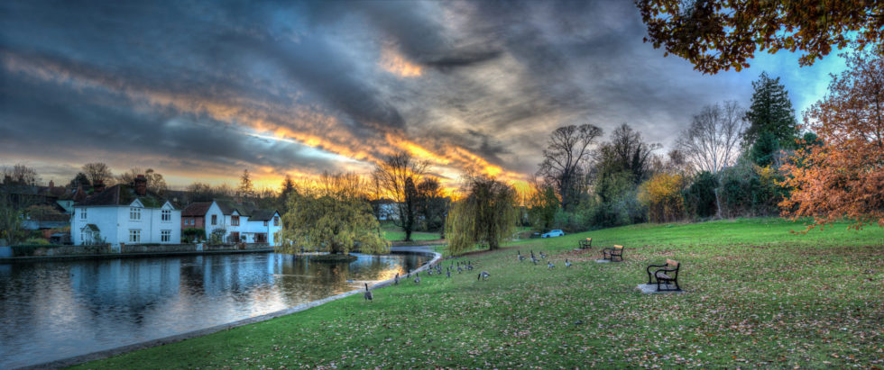 autumn-sunset-over-doctors-pond