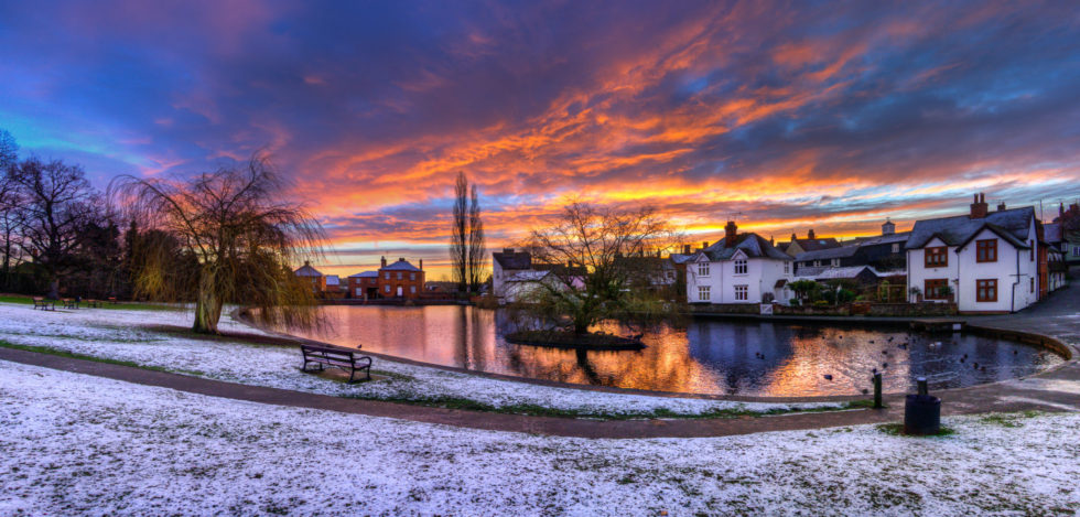 135/365v3 – Doctors Pond Snowy(ish) Sunrise
