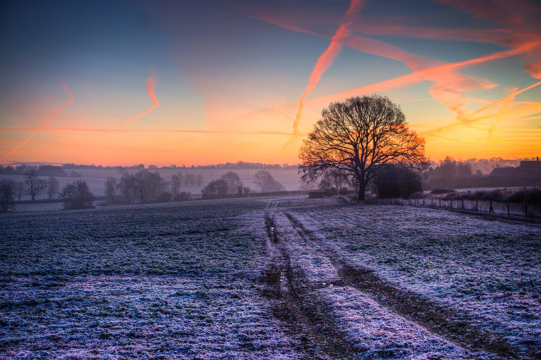 Sunrise at the Farm Track