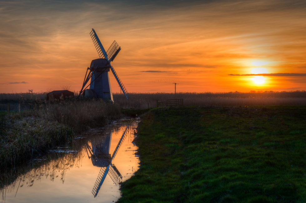 Herringfleet Windpump (Walker's Mill) Sunset