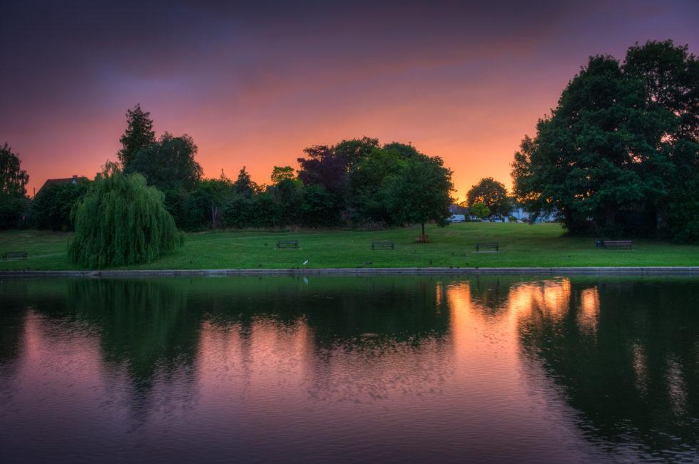 297/365v3 – Sunset on Doctors Pond