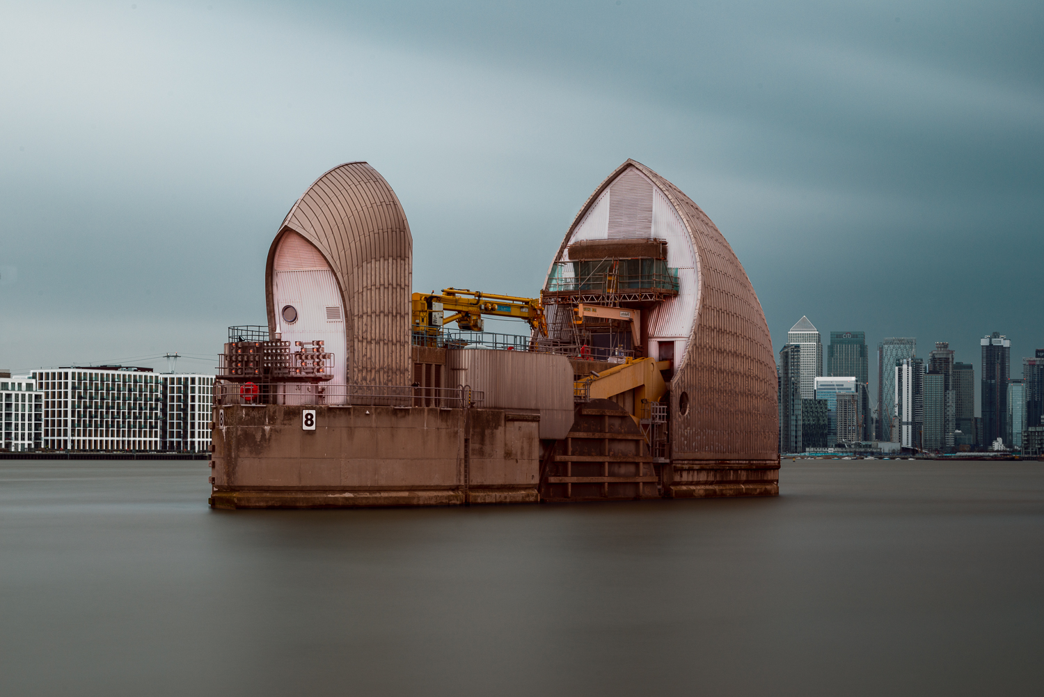 Waiting to Save London from the Rising Seas in Colour