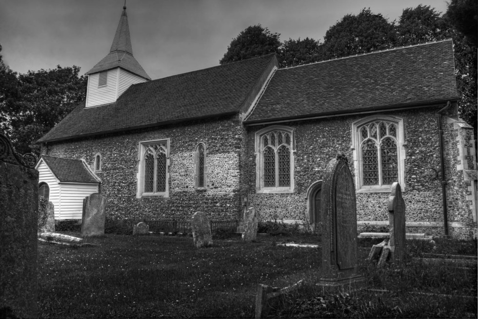 St Andrews and All Saints Willingale BandW