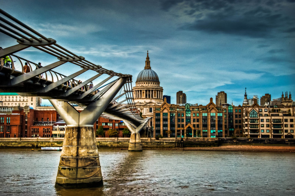 St Pauls from Millenium Bridge