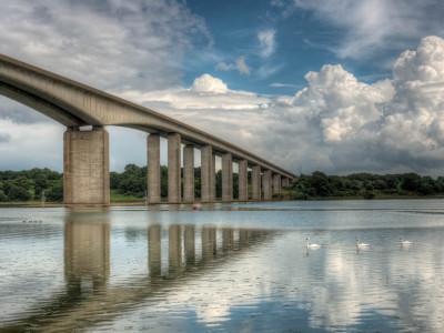 226/365v2 Heavy Traffic under the Orwell Bridge
